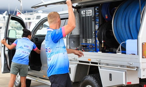 chem safe water damage cairns services setting up drying truck